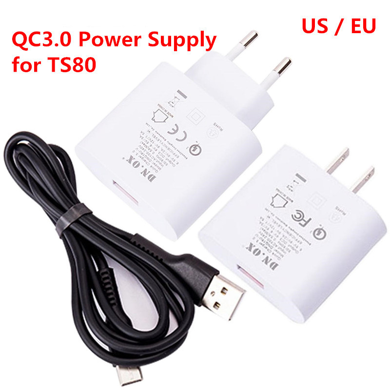 Original TS80 Digital Soldering Iron EU US Plug QC 3.0 USB Type-C Power Supply Adapter Station Replacement 3.6V - 12V EU US Plug