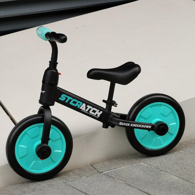 Vélo d'équilibre ultra-léger enfants équitation vélo pour 1-5 ans bébé marcheur Scooter vélo roue auxiliaire pas de pédale apprendre à faire du vélo