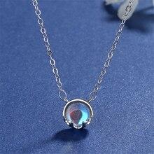 Designer Collar Korean Necklace Clasp Jewelry Moonstone Deer Elk Necklaces Sterling Silver Stone Adjustable