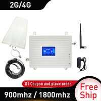 Rosja GSM 900 UMTS 1800 mhz dwuzakresowy wzmacniacz 2G 3G 4G LTE telefon komórkowy wzmacniacz komórkowy + LPDA antena biczowa