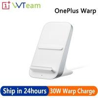 Original OnePlus Warp cargo de 30W cargador inalámbrico 50W inteligente dormir modo Qi del PPE de enfriamiento de aire de 30W para OnePlus 8 Pro 9Pro