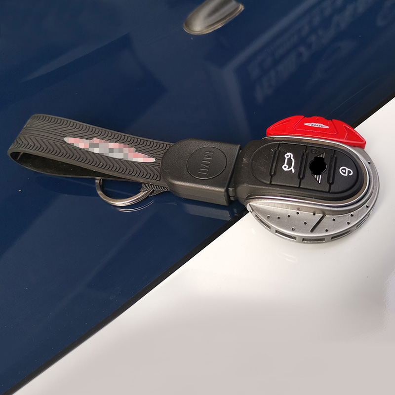 ABS JCW Style Car Key Cover For mini cooper key cover keycase key chain For mini cooper F55 F56 F57 F54 F60 jcw Plastic Material