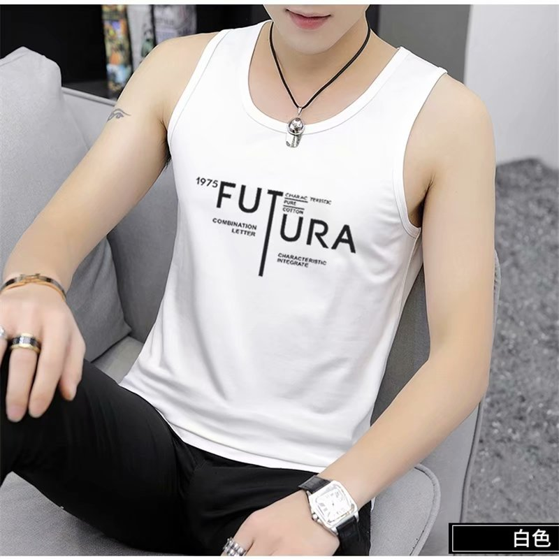 New Summer Fashion Men's Tank Tops Cotton Clothing  Letter Pattern Sleeveless  Shirt Leisure Fitness workout Loose Men Tank Top
