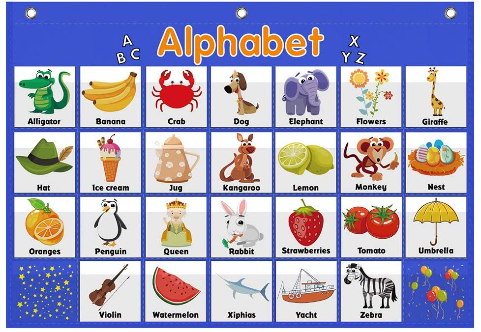 Alphabet Pocket Chart,Word Recognition Pocket Chart, ABC Pocket Chart