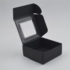 Image 3 - 50pcs/lot Small Paper Box white gift Box Packaging Party Favor Box Brown Kraft Cardboard Box black Carton packaging window boxes