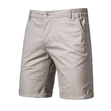2020 New Summer 100% Cotton Solid Shorts Men High Quality Casual Business Social Elastic Waist Men Shorts 10 Colors Beach Shorts(China)