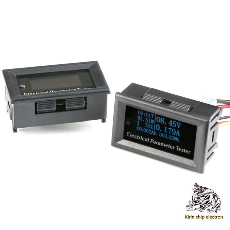 1PCS/LOT Multifunction OLED Voltage Current Power Capacity Time Power Tester Smart Meter