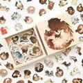 200 шт./упак. милый разнообразный журнал с животными, декоративный фотоальбом для скрапбукинга, ярлык, дневник, канцелярские принадлежности