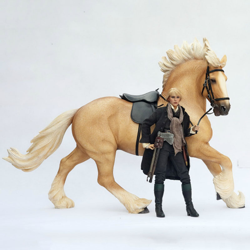 About 53CM Simulation PVC Sharma War Horse Mounts Horse Animal Model Mount Kids Adult Toys Home Decoration Collect Gifts