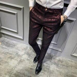 Image 1 - Мужские классические брюки, повседневные облегающие брюки с парфюмом для офиса, осень 2019