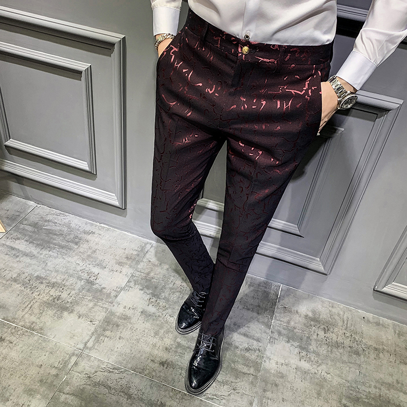 Pantalon Hombre Vestir 2019 Autumn Social Trousers Mens Pants Perfume Men Dress Pants Slim Fit Casual Mens Trousers Office