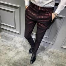 Pantalon Hombre Vestir 2019 jesienne spodnie społeczne męskie spodnie perfumy męskie spodnie wizytowe Slim Fit Casual męskie spodnie biurowe