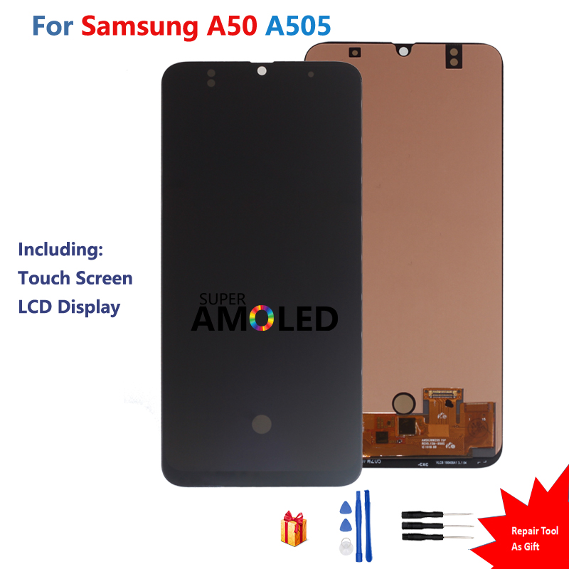 For <font><b>Samsung</b></font> Galaxy A50 SM-A505FN/DS A505F/DS A505 Amoled LCD Display Touch Screen Digitizer Assembly For <font><b>Samsung</b></font> A50 Screen LCD image