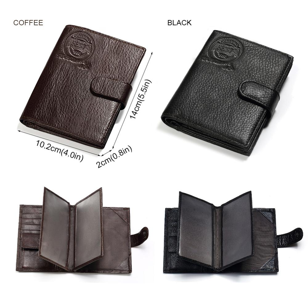 Image 5 - KAVIS Genuine Leather Wallet Men Passport Holder Coin Purse Magic Walet PORTFOLIO MAN Portomonee Mini Vallet Passport Covergenuine leather wallet menleather wallet menportfolio men -