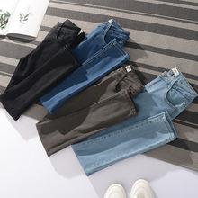 Джинсы женские в стиле ретро повседневные синие брюки карандаш