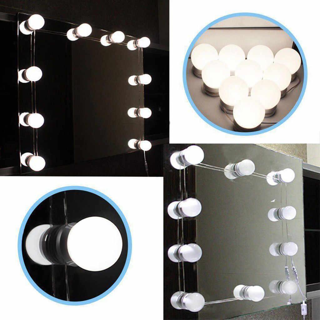 CARPRIE DIY 10 Led ściemniania lustro kosmetyczne zestaw oświetleniowy żarówki do makijażu Hollywood lustro łazienka Led światła ciąg #45