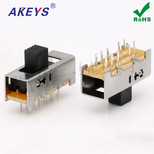 10pcs SS-24E02 (2P4T) various handle height 4-speed toggle switch No fixed foot double row vertical 10 feet japan alps motor straight slip sliding mixer special fader potentiometer switch b10k 170mm 17cm 4 foot 4 feet t handle