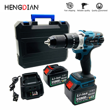 21V hammer impact drill Electric Drill Cordless lithium Battery Multifunctional ScrewDriver 20-speed tools electric hammer drill redverg rd rh650 no load speed 1200 rpm 5500 beats per minute