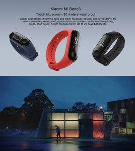 Image 5 - Xiaomi MiBand 3 Mi band 3 Fitness Tracker pulsometr 0.78 wyświetlacz OLED Bluetooth 4.2 dla androida IOS