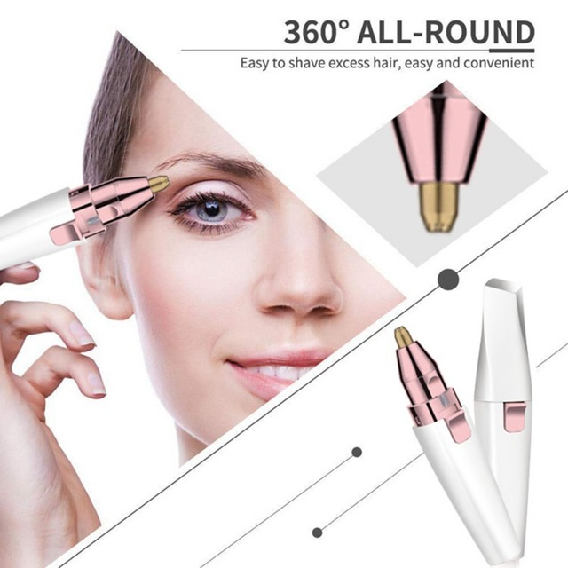 NEW Electric Eyebrow Trimmer/Face Eyebrow Hair Remover /Mini Eyebrow Shaver Razor/ Instant Painless Portable Epilator 5