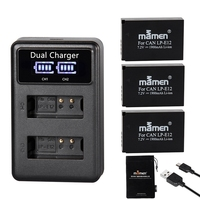 Mamen 3 шт. 1900 мАч LP-E12 LPE12 LP E12 аккумуляторная батарея для цифровой камеры + ЖК USB зарядное устройство для Canon 100D Kiss X7 SL1 M10 M50