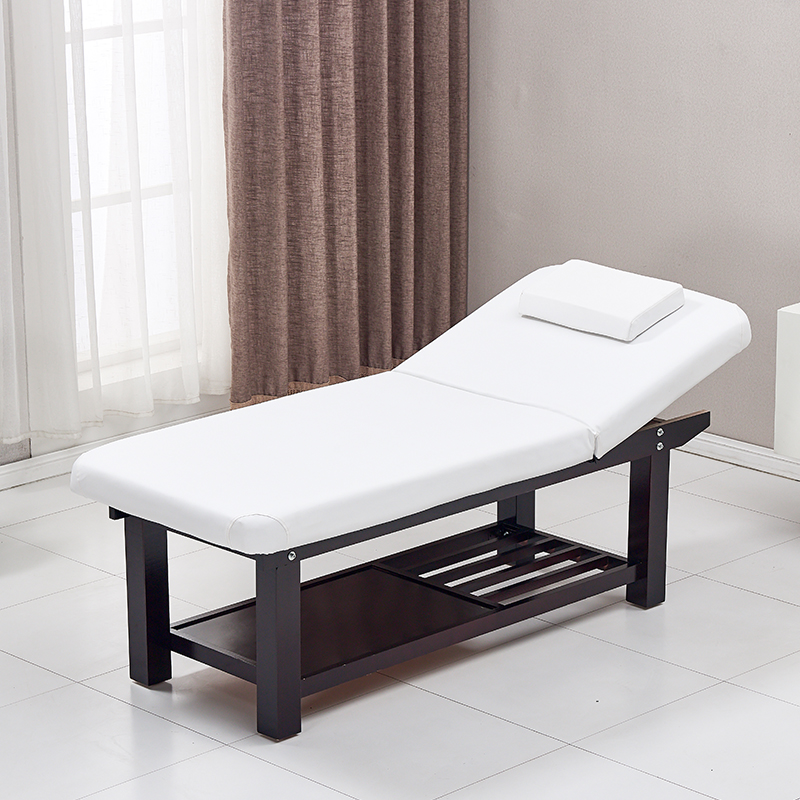 Beauty Salon Special Solid Wood Beauty Bed Embroidery Bed Massage Bed Folding Massage Bed