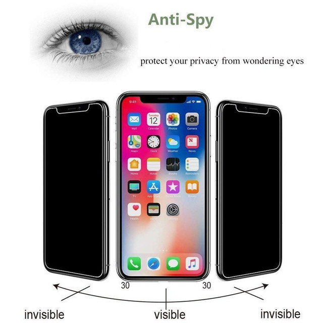 3Pcs Privacy Tempered Glass Screen Protector for IPhone 12 11 Pro XS MAX X XR Anti-spy Glass for IPhone 6s 7 8 Plus 4