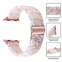 Harz Uhr Strap für Apple Uhr 44mm 40mm iWatch Serie 6 SE 5 4 3 2 1 Band 42mm 38mm Metall Schnalle Handgelenk Armband Zubehör
