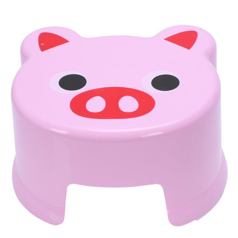 Cartoon Animal Children Antiskid Stool Bathroom Stool Feet Stool ,Pink Piggy