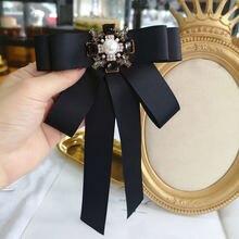 Корейский черный галстук бабочка с бантом женская элегантная