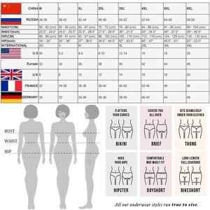 3 шт., женские хлопковые кружевные стринги, размеры до 7XL