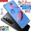 M10 ультра 7,2 дюймов 5G 8 ядро 128/256 ГБ Android10 полный Экран смартфон мобильный телефон с двумя sim-картами 6000 мАч Octa core сотовый телефон