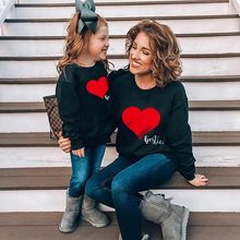 Family Matching Sweatshirt Outfits Girls Mommy Boys Love Me And Autumn Tops