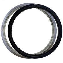Jantes de moto en aluminium Aviation 6061x18 32 36 trous, rayons argent/noir, trou de cercle de roue 2.15x18 2.15 18