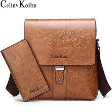 Celinv Koilm Men Shoulder Bag Set Big Brand Crossbody Business Messenger Bags For Man Fashion Casual pu Leather New Hot Salling