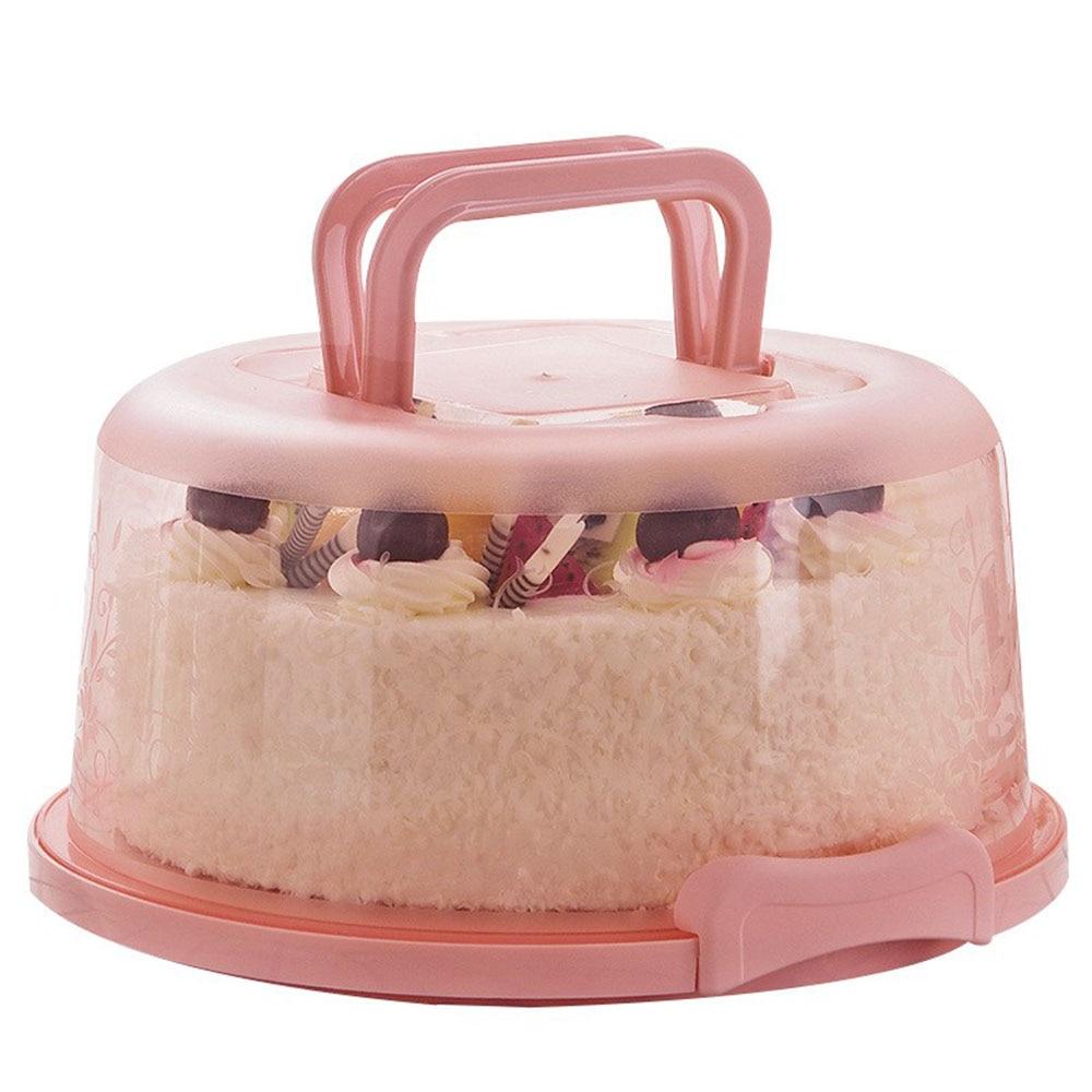 8inch Portable Cake Box Food Fresh-keeping Box Refrigerator Fresh-keeping Receiving Box Fruits/Vegetables Fresh-keeping