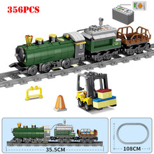 Technic Battery Powered Electric Classic City Train Rail Bui
