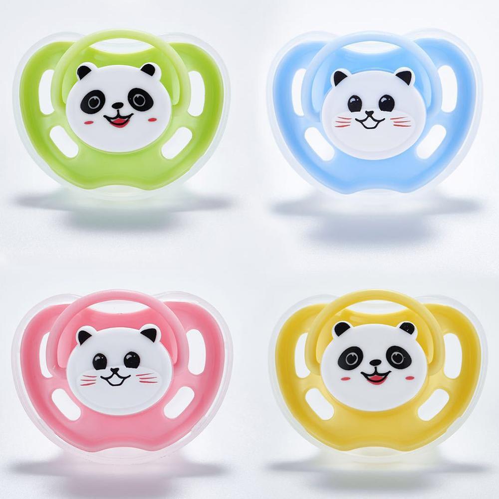 Newborn Pacifier Cute Cartoon Panda Cat Styling Soother Baby Comfort Tool Supplies