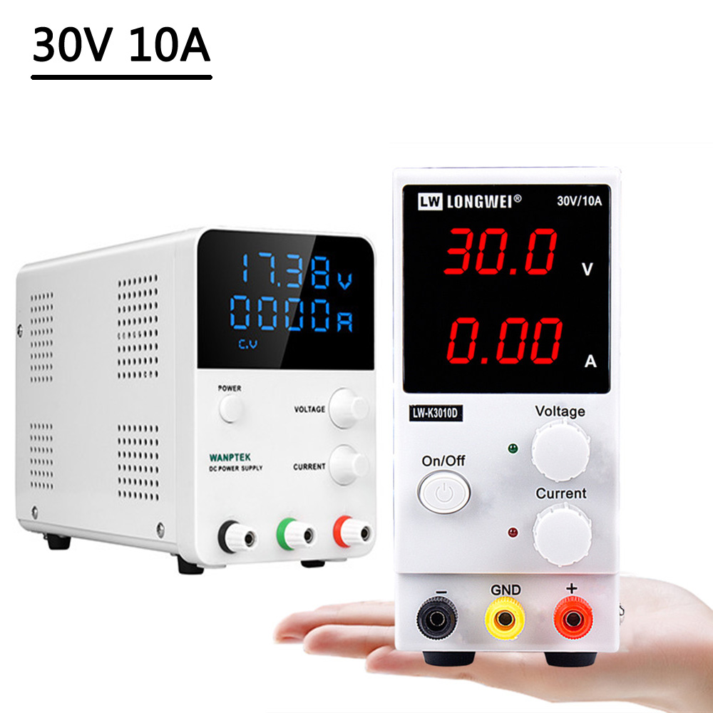 Longwei GPS Adjustable <font><b>DC</b></font> Power <font><b>Supply</b></font> 30V 10A Switching Laboratory Bench Source Voltage And Current Regulator LED Display <font><b>30</b></font> <font><b>V</b></font> image