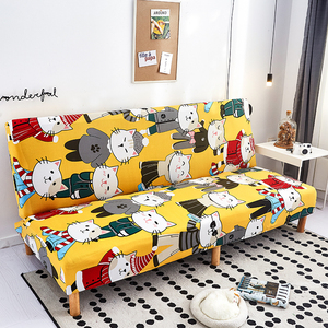 Image 5 - Modern Geometric Print Folding Sofa Bed Cover Without Armrest Universal Stretch Couch Cover Furniture Slipcover Sofa Protector