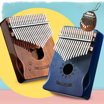 17 klawiszy Kalimba przenośny kciuk instrumenty fortepianowe prezenty dla dzieci kciuk fortepian wysokiej jakości instrumenty muzyczne Kalimba muzyka BC50GQ tanie i dobre opinie OEING CN (pochodzenie) Beginner Thumb piano Kompozyty Wielowarstwowe 11