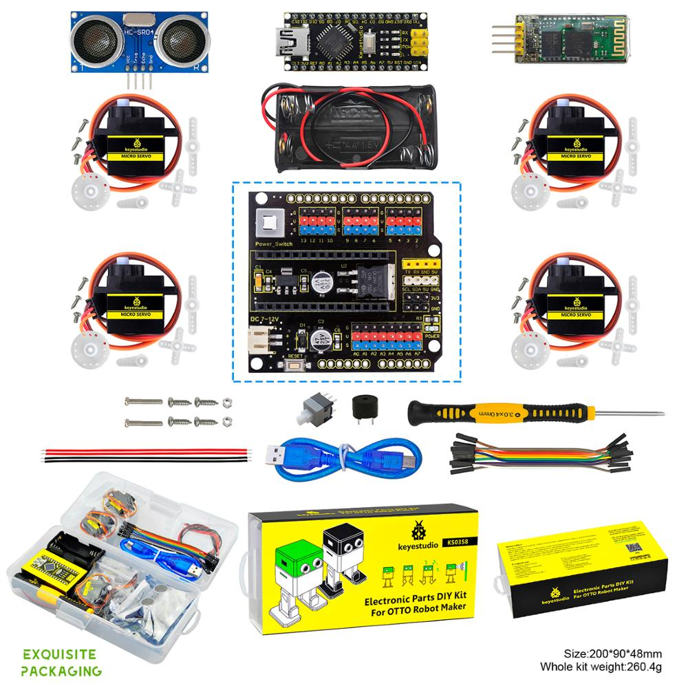 Keyestudio DIY Project Starter Kit For Arduino OTTO DIY Robot (No 3D Body Printer Parts)-in Integrated Circuits from Electronic Components & Supplies