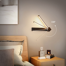 Modern Black & White LED Wall Lights with Rotated Beam Angle Decor modern Hotel Stair in Bedroom Bedside sconce wall lamp