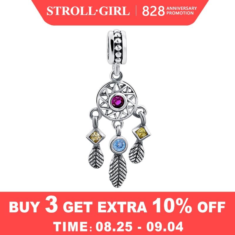 Jewelry Pendant Dream-Catcher Pandora Bracelet Original Charm Women Accessories Silver