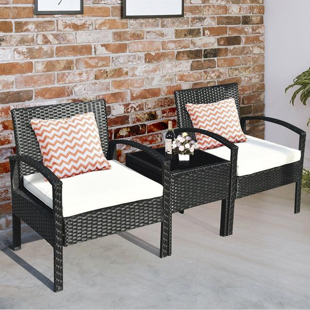 3 PCS Patio Garden Furniture Set  4