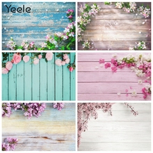 Yeele Wooden Boards Flowers Baby Doll Food Pet Photography Backdrops Planks Photographic Backgrounds For Photo Studio Photophone