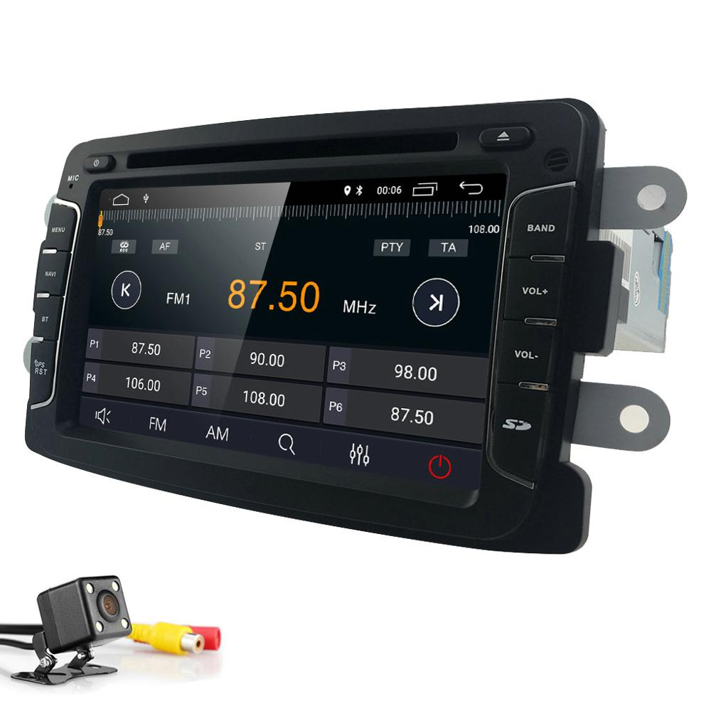 1Din Android 9 0 Car DVD Stereo Player GPS for Renault Duster Dacia Sandero Logan Dokker