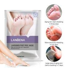 Лавандовая отшелушивающая маска для ног lanbena педикюрные носки