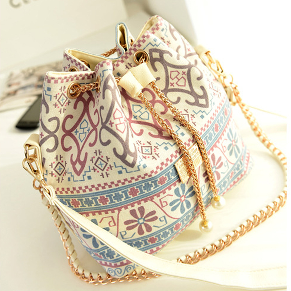 Classic  Canvas Drawstring Bucket Bag Shoulder Handbags Women Messenger Bags Bolsa Feminina Bolsos