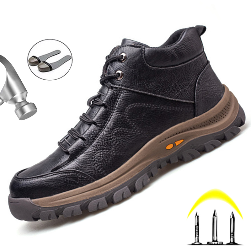 Male Safety Shoes Work Boots Steel Toe